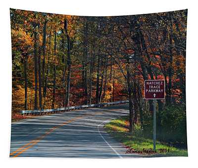 Fall Drive In Tennessee  1 Tapestry