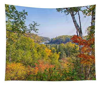 Fall In Gooseberry State Park Tapestry