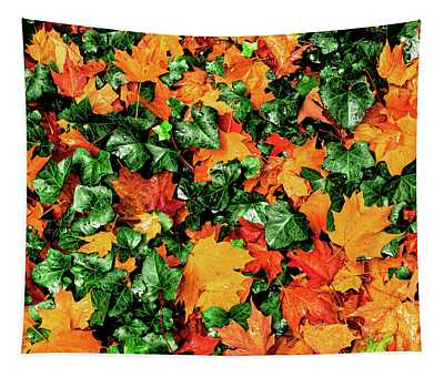 Fall Leaves Among Ivy, New York State Tapestry