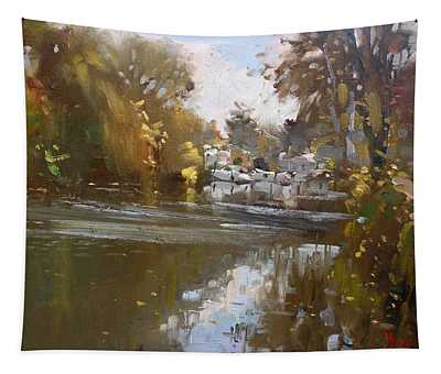 Fall Reflections At North Tonawanda Canal Tapestry