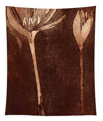 Fall Time - Autumn Crocus Meadow Safran Tapestry