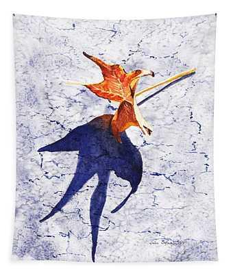 Fallen Leaf King Size Shadow Tapestry