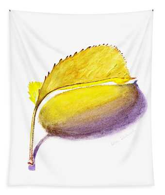 Fallen Leaf Yellow Shadows Tapestry