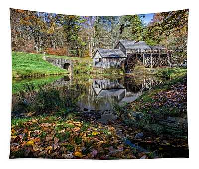Fallen Leaves At Mabry Mill Tapestry