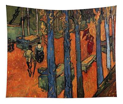 Falling Autumn Leaves Tapestry