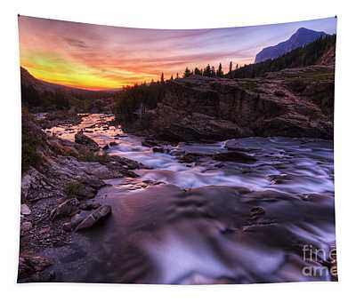 Falls At First Light Tapestry