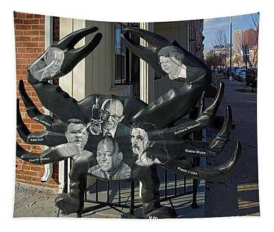 Famous Baltimoreans Art Crab  Tapestry