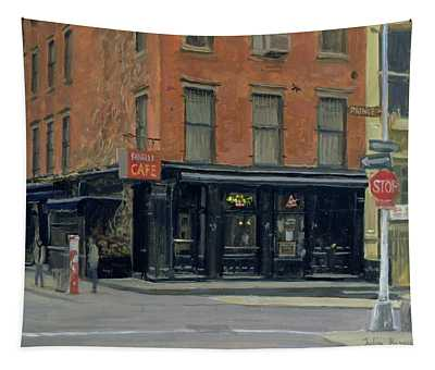 Fanellis Bar, New York, 1996 Oil On Canvas Tapestry