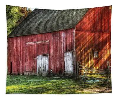 Farm - Barn - The Old Red Barn Tapestry