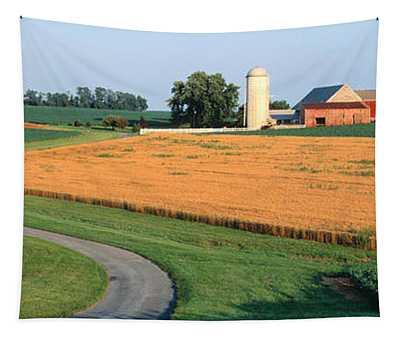 Farm Nr Mountville Lancaster Co Pa Usa Tapestry
