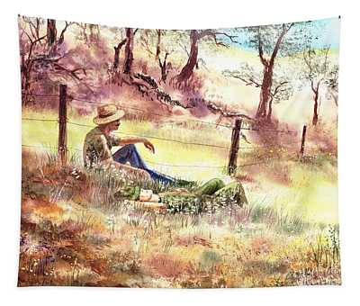 Farmers And Hunters Heaven Tapestry