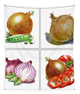 Farmers Market Onion Collection Tapestry