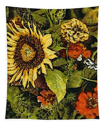 Farmers Market Sunflower Tapestry