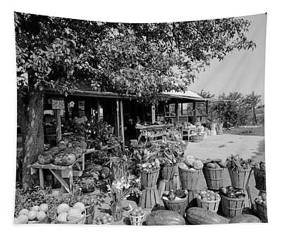 Farmers Market With Bushel Baskets Tapestry