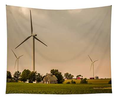 Farms And Windmills Tapestry
