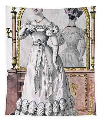 Fashion Plate Of A Lady In Evening Tapestry