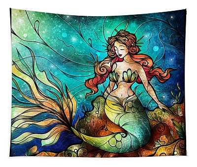 Fathoms Below Triptych Tapestry