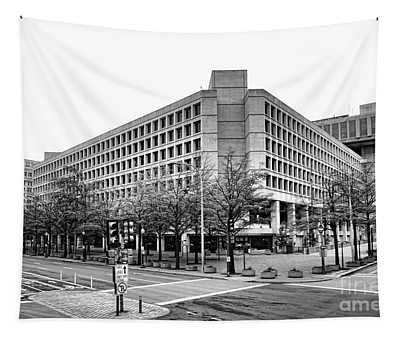 Fbi Building Front View Tapestry