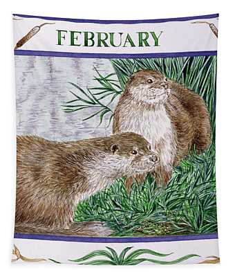 February Wc On Paper Tapestry
