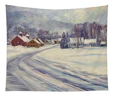 Felchville Village In The Snow Tapestry