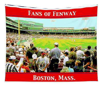 Fenway Park Fans Boston Digital Painting Tapestry