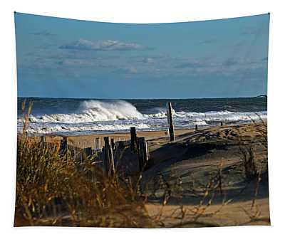 Fenwick Dunes And Waves Tapestry