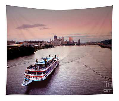 Ferry Boat At The Point In Pittsburgh Pa Tapestry