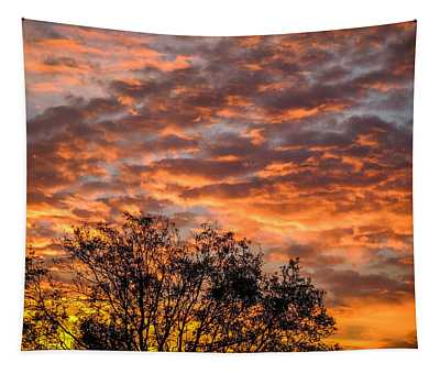 Fiery Sunrise Over County Clare Tapestry