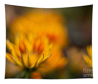 Fiery Yellow Blooms Tapestry