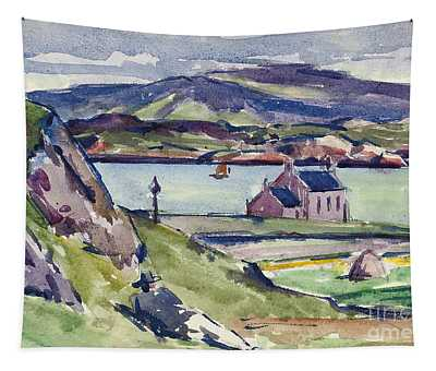 Figure And Kirk   Iona Tapestry
