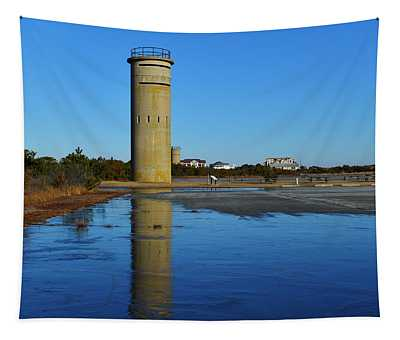 Fire Control Tower 3 Icy Reflection Tapestry