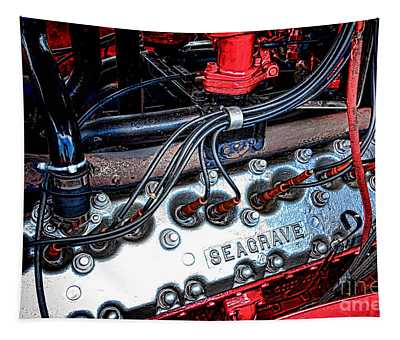 Fire Engine Engine Tapestry