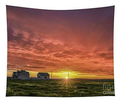 Fire In The Sky Tapestry