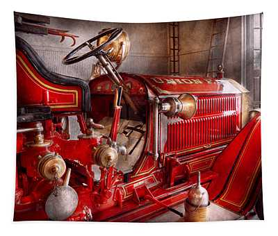 Fireman - Truck - Waiting For A Call Tapestry