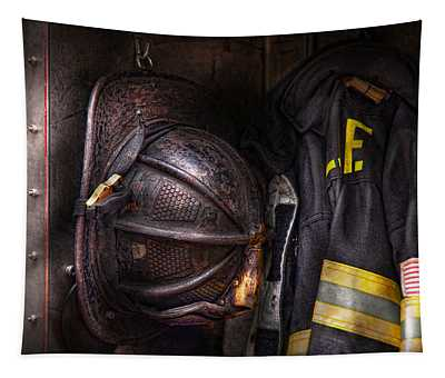 Fireman - Worn And Used Tapestry