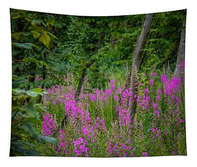 Fireweed In The Irish Countryside Tapestry