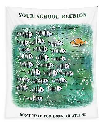 Fish School Reunion Tapestry