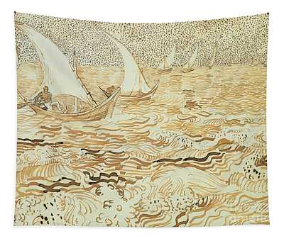 Fishing Boats At Saintes Maries De La Mer Tapestry