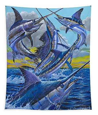 Five Billfish Off00136 Tapestry