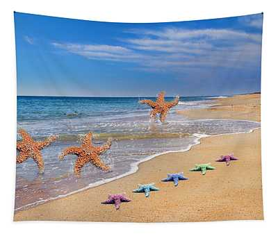 Five Star Beach Yippe Yah Tapestry