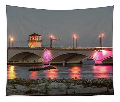 Flagler Bridge In Pink Tapestry