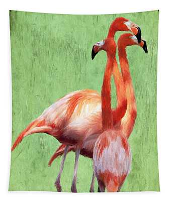 Flamingo Twist Tapestry