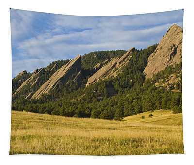 Flatiron Morning Light Boulder Colorado Tapestry