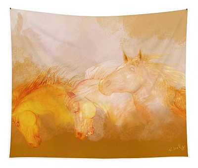 Flaxen Manes Tapestry