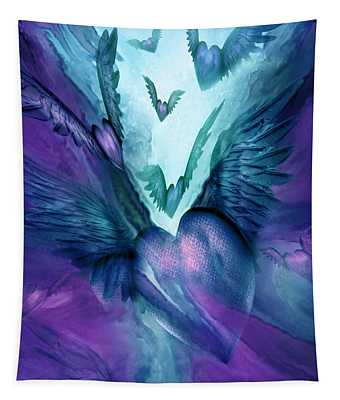 Flight Of The Heart - Teal Purple Tapestry