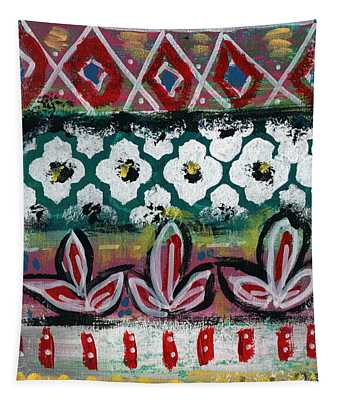 Floral Fiesta- Colorful Pattern Painting Tapestry