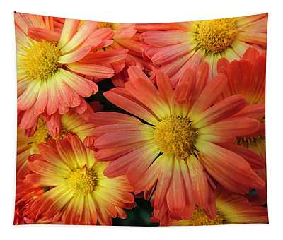 Floral Frenzy 2 Tapestry