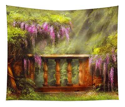 Flower - Wisteria - A Lovers View Tapestry