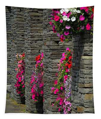 Flowers At Liscannor Rock Shop Tapestry