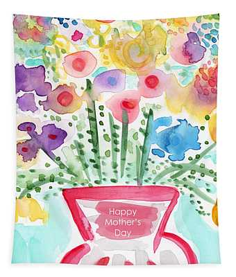 Flowers For Mom- Mother's Day Card Tapestry